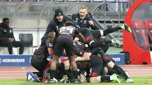 Großer Jubel beim 1. FC Nürnberg