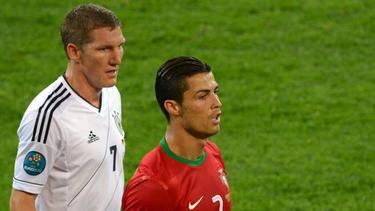 Sahen sich im Sommer 2012 gegenüber: Bastian Schweinsteiger und Cristiano Ronaldo