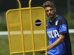 Domenico Berardi con la Sub-21 de Italia. (Foto: Getty)