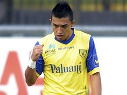 Fernando Uribe con la camiseta del Verona en el 2011. (Foto: Getty)