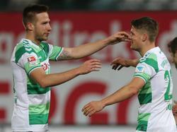 Marco Stiepermann (l.) und Johannes Wurtz spielen auch beim VfL zusammen
