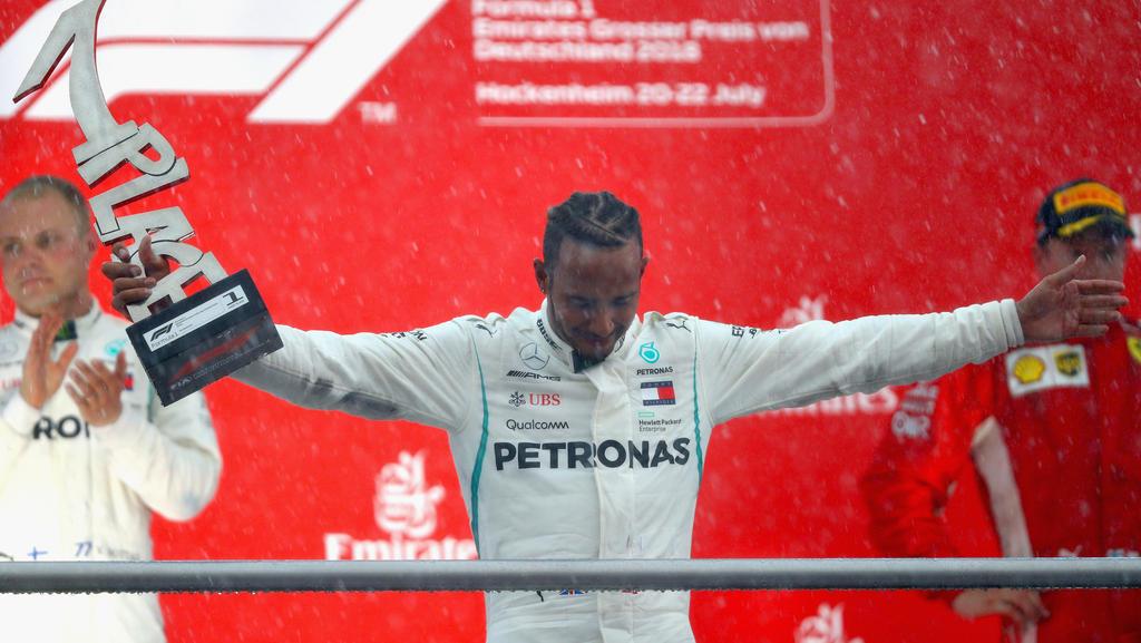 Lewis Hamilton profitierte von einem Patzer von Sebastian Vettel