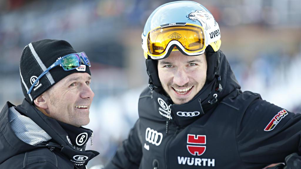 Felix Neureuther (r.) blickt optimistisch der Ski-WM entgegen