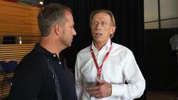 Christoph Daum (r.) kritisierte das Verhalten von Bayern-Präsident Uli Hoeneß