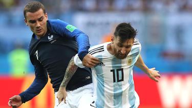 Für Griezmann (l.) ist Messi das Gesicht des Fußballs