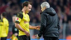 Keine gemeinsame Zukunft beim BVB: Mario Götze und Lucien Favre