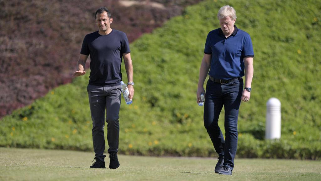 Gemeinsam mit Vereinspräsident Herbert Hainer sind sie bald die wichtigsten Figuren beim FC Bayern: Hasan Salihamidzic (l.) und Oliver Kahn