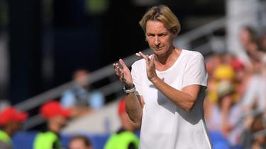 Martina Voss-Tecklenburg freut sich auf die Partie gegen England