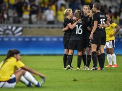 Amber Hearn, a los 31 minutos, marcó el único tanto del encuentro. (Foto: Getty)