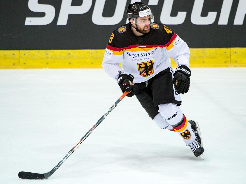 Gerrit Fauser ging erstmals mit seinen 24 Teamkollegen aufs Eis