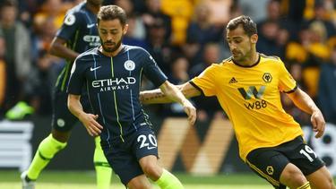 Manchester City kommt gegen Wolverhampton nicht über ein 1:1 hinaus