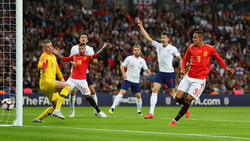 Rodrigo anota el segundo gol visitante en Wembley. (Foto: Getty)