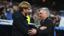 Jürgen Klopp (l.) und Carlo Ancelotti