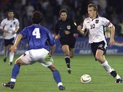 Andreas Herzog erzielte im Oktober 2001 das entscheidende Tor für Österreich