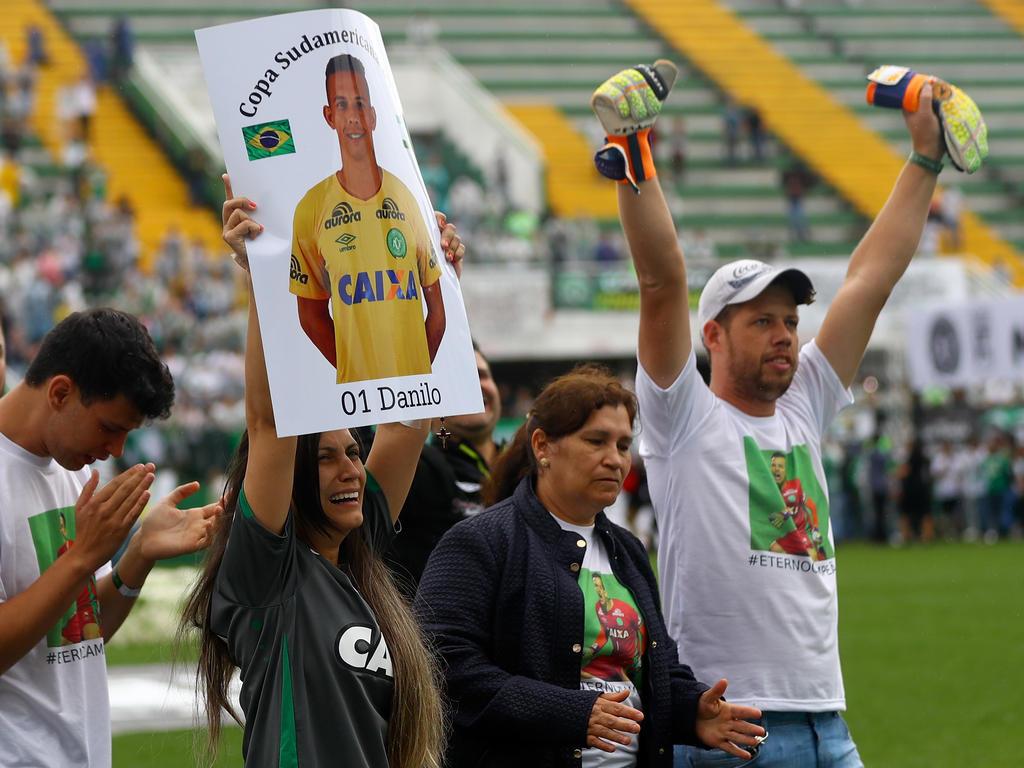 Die Fans von Chapecoense nahmen Abschied vom verunglückten Team