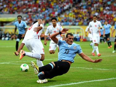 Matías Aguirregaray, en un partido con Uruguay. (Foto: Getty)