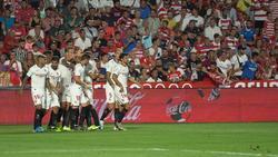 El Sevilla se impuso por la mínima en Los Cármenes