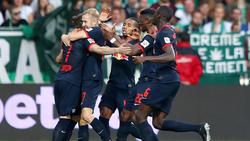 RB Leipzig bejubelt die Tabellenführung in der Bundesliga