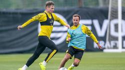 Lukasz Piszczek (l.) und Mario Götze (r.) spielten viele Jahre gemeinsam beim BVB