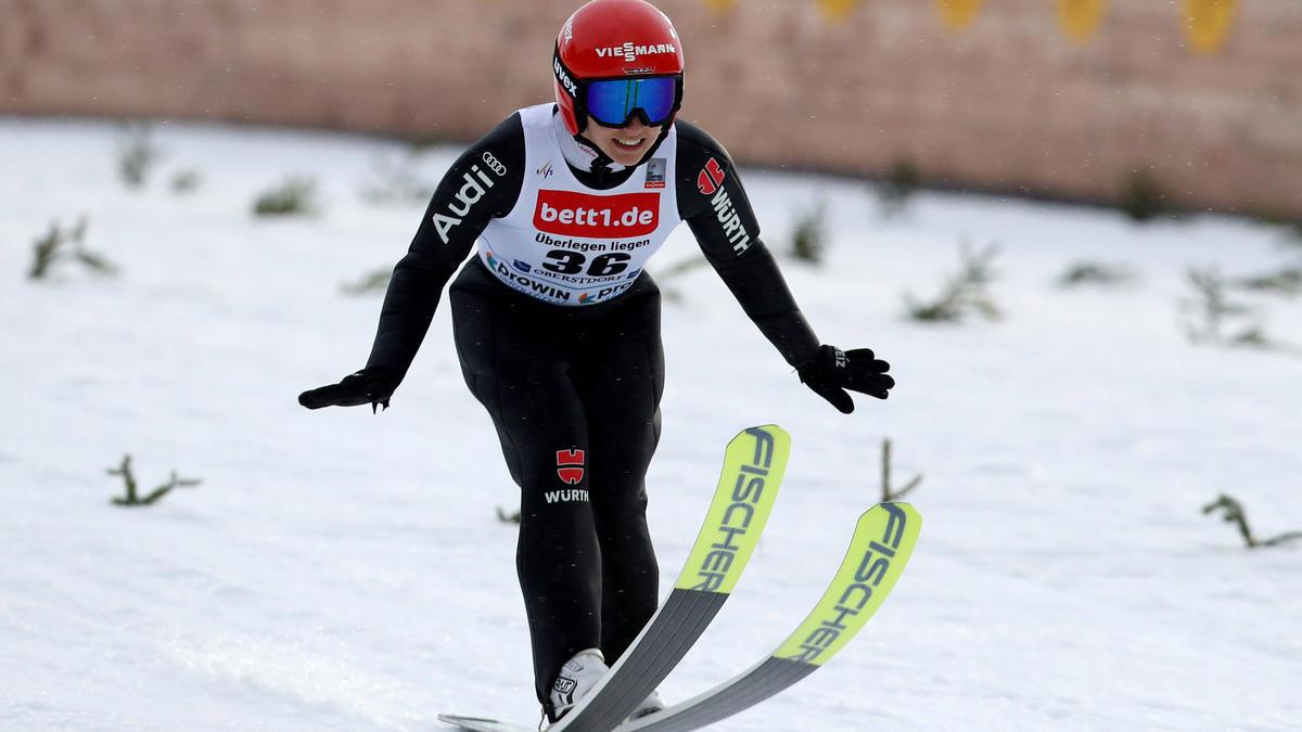 Keinen Podestplatz gab es für die deutschen Skispringerinnen