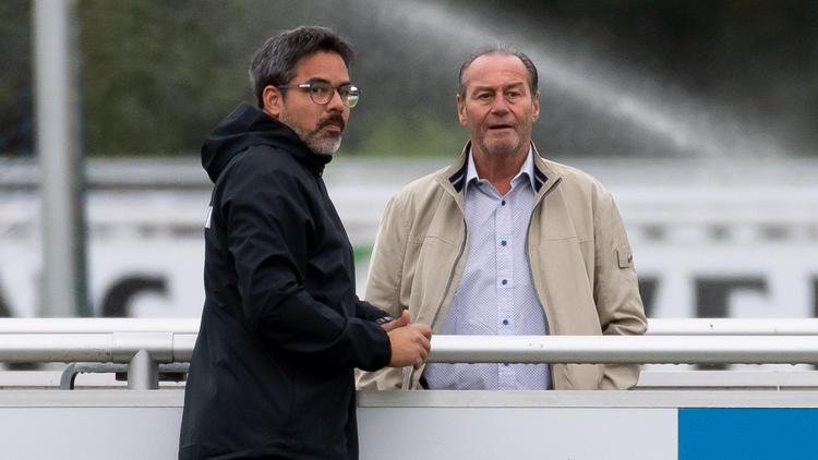 David Wagner (l.) an der Seite von FC-Schalke-Kult-Coach Huub Stevens