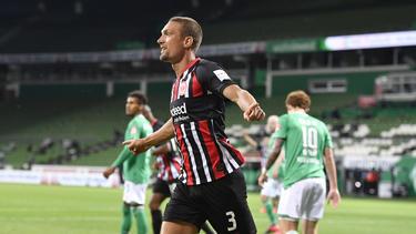 Stefan Ilsanker traf doppelt für Eintracht Frankfurt