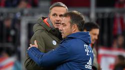 Didi Hamann (li.) glaubt nicht, dass Flick (re.) beim FC Bayern bleibt