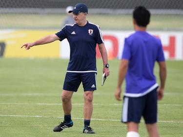 Aguirre en una sesión de entrenamiento con el combinado nipón. (Foto: Getty)