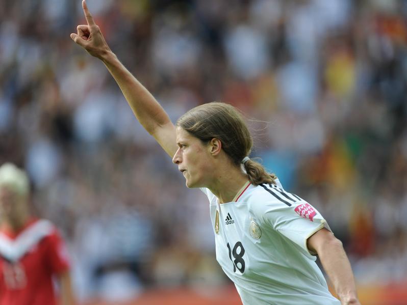 Kerstin Garefrekes erzielte bei der WM zwei Treffer für die DFB-Auswahl.