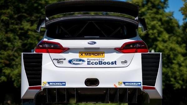 So sieht das neue Heck von Sébastien Ogiers Ford Fiesta WRC aus
