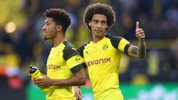 Axel Witsel (r.) lobt die Atmosphäre in Dortmund