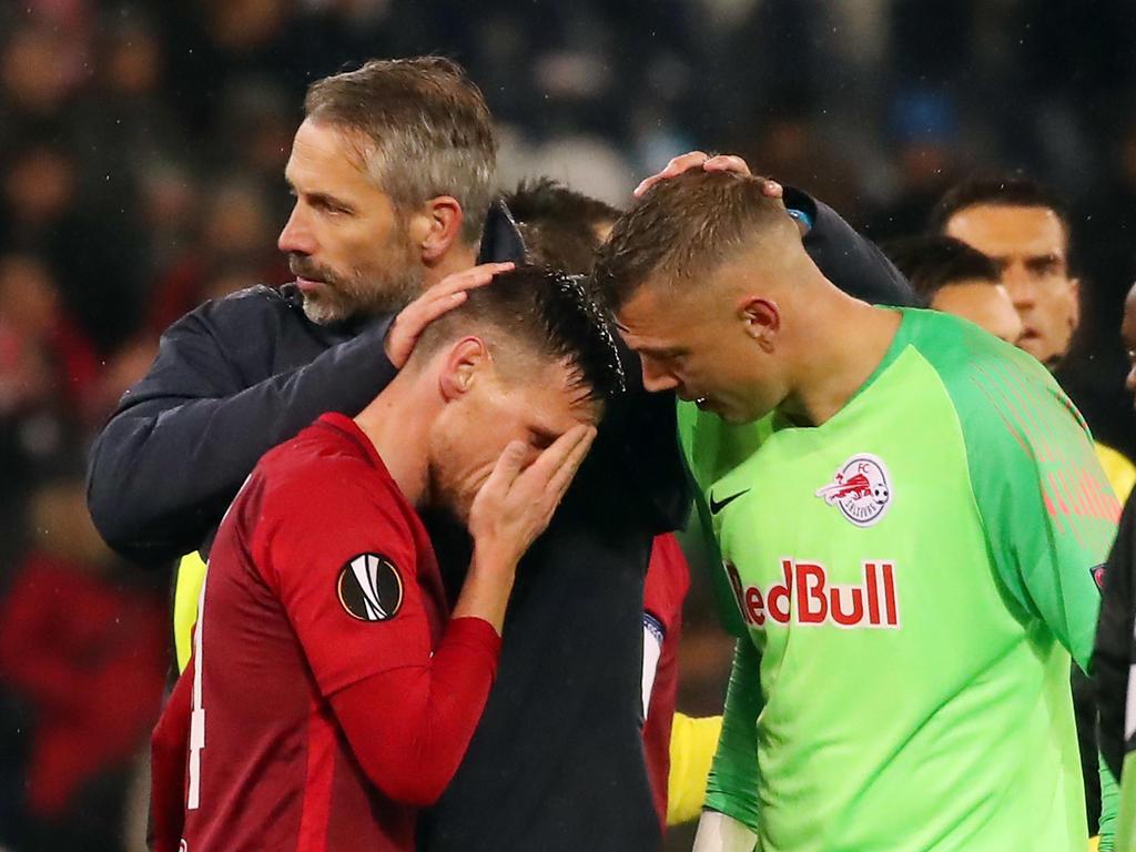 Marco Rose musste seine Spieler trösten