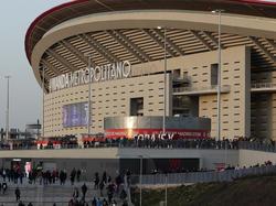 Imágenes del Wanda Metropolitano que acogerá la final de la UCL.