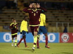 Yangel Herrera celebra su tanto, el primero que subió al marcador. (Foto: Imago)