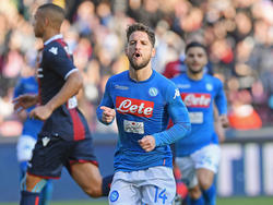 Dries Mertens traf gegen Bologna im Doppelpack. © Getty Images/Francesco Pecoraro