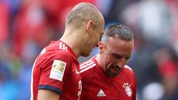 Prägten lange Zeit den FC Bayern: Arjen Robben (l.) und Franck Ribéry
