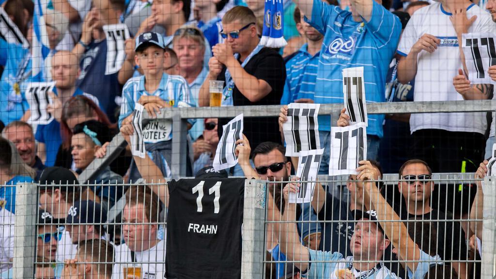 Die Chemnitz-Fans zeigten sich solidarisch mit Frahn