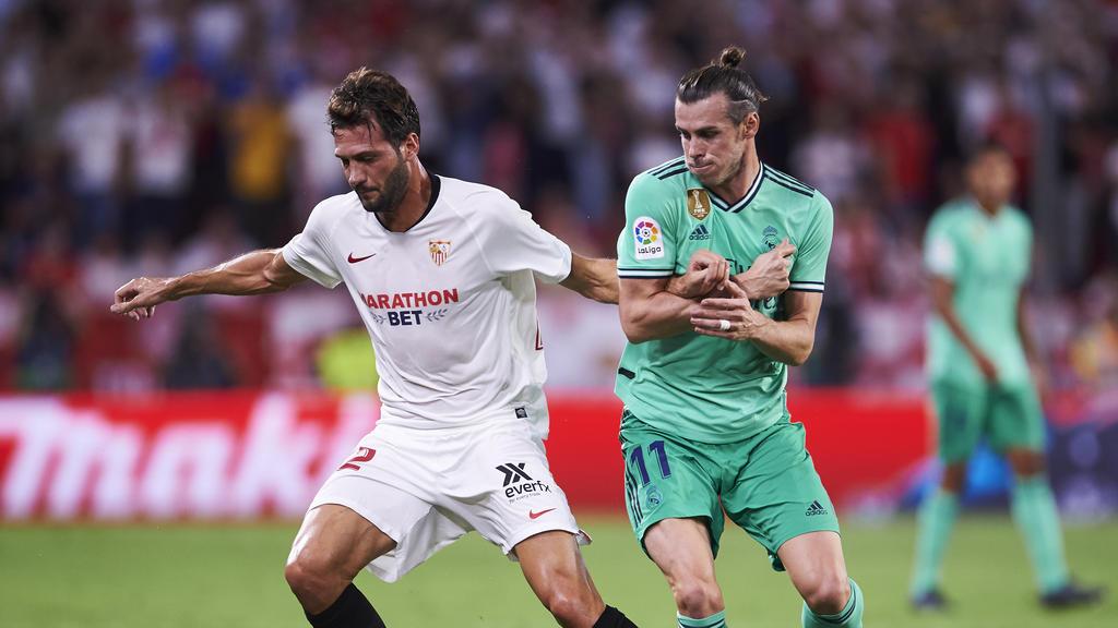Bale en el último encuentro liguero contra el Sevilla.