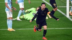 Jubel über den Sieg bei Celta Vigo: Messi und Barcelona