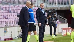 Ronald Koeman (r.) und Barca - das passt noch nicht so recht zusammen