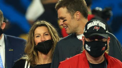 Tom Brady mit seiner Ehefrau Gisele Bündchen