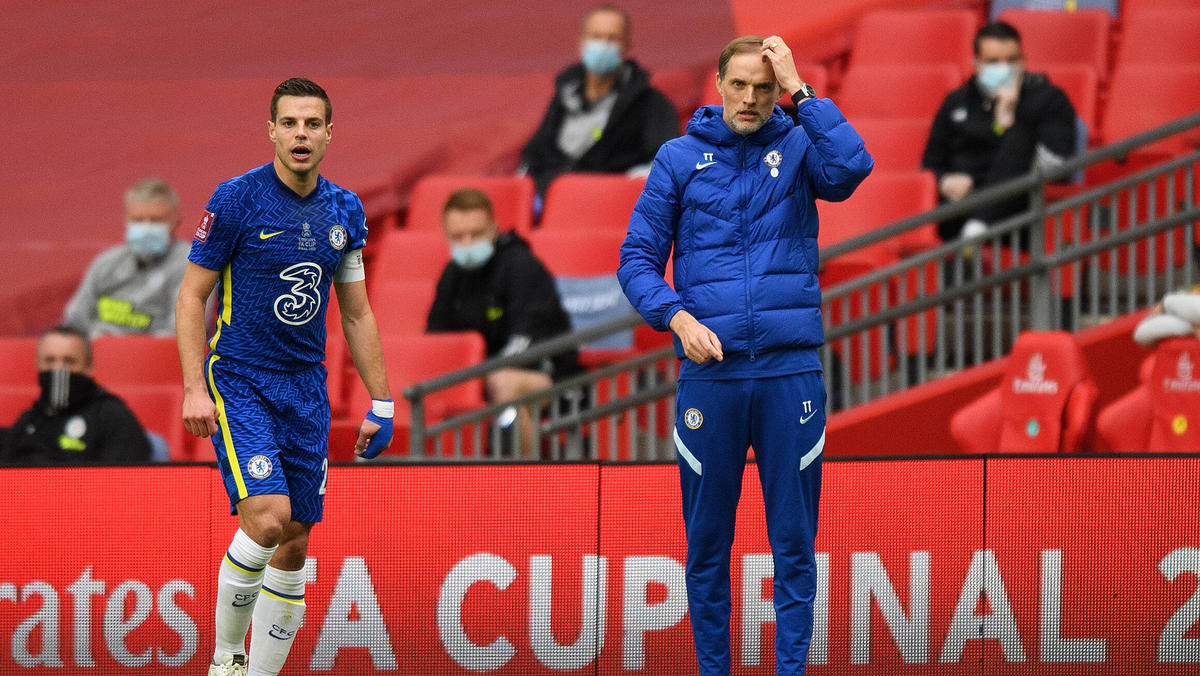 Thomas Tuchel (r.) verlor mit dem FC Chelsea das Finale im FA Cup