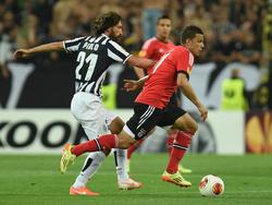 Una scena della gara tra Juventus e Benfica