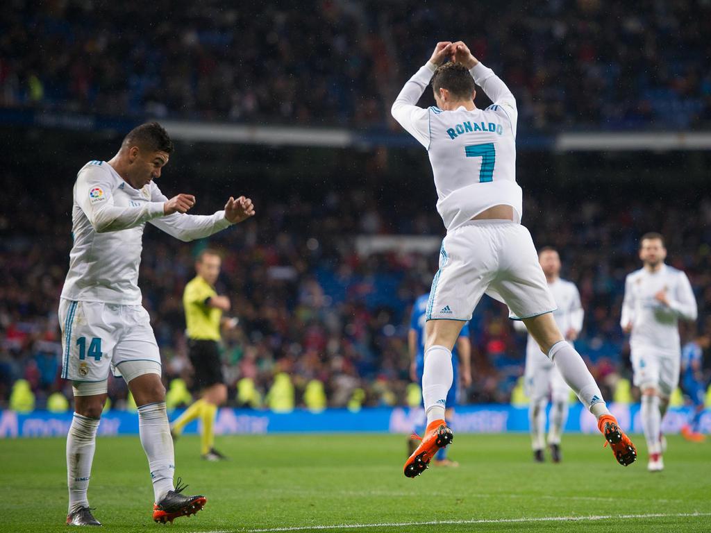 Cristiano Ronaldo feiert seine beiden Tore in La Liga