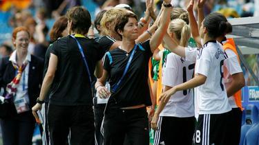 DFB-Trainerin Maren Meinert erwartet ein enges Spiel