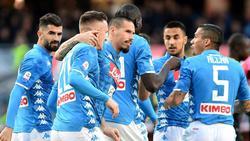 Vizemeister Neapel verkürzt Rückstand auf Meister Juve