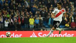 Gonzalo 'Pity' Martínez anotó en el Bernabéu ante Boca. (Foto: Getty)