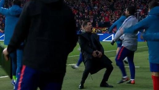 Diego Simeone sorgte mit seiner Geste für großen Wirbel in Madrid