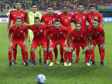 Once de Chile en un amistoso ante Croacia en enero. (Foto: GEtty)