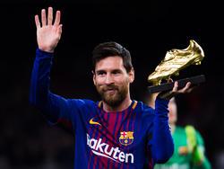 Messi ganó su quinto título como mejor goleador de la Liga española. (Foto: Getty)